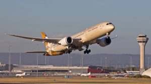 Etihad Airways Boeing 787-9 A6-BLI at Perth Airport. (Keith Anderson)