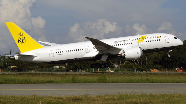 A file image of a Boeing 787-8 in Royal Brunei Airlines livery. (Wikimedia Commons/Jahurz)