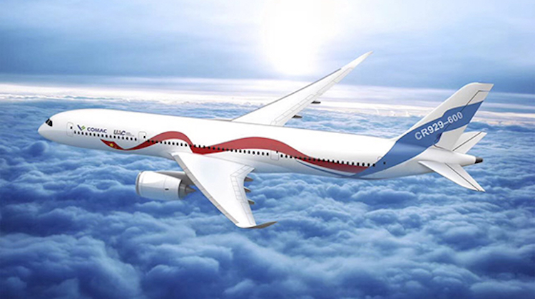 An artist's impression of the CR929. (COMAC)