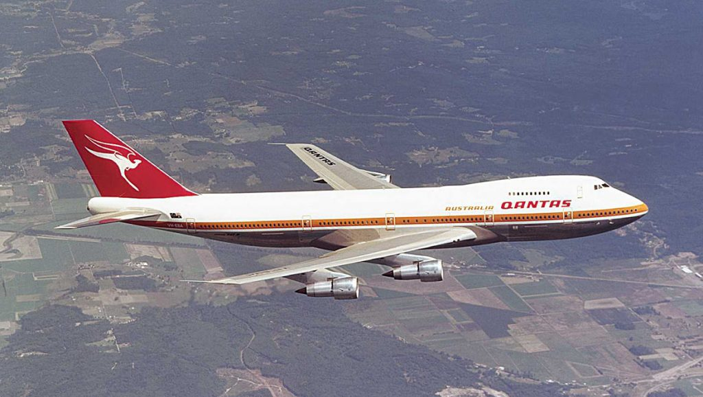 Where it began – the first Qantas 747 was 747-238B VH-EBA City of Canberra delivered in 1971. (Qantas)