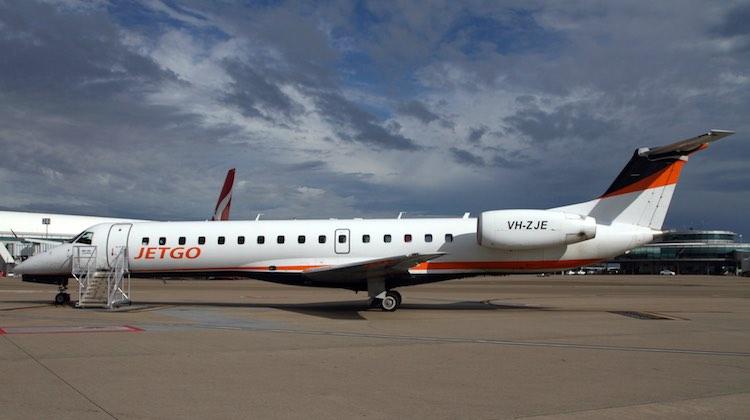 A file image of a Jetgo Embraer E145. (Rob Finlayson)