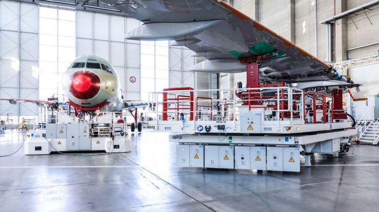Airbus' newly inaugurated A320 Family production line is its fourth in Hamburg, Germany. (Airbus)