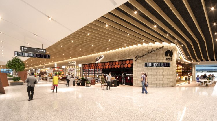 An artist's impression of the Adelaide Airport terminal expansion project. (Adelaide Airport)