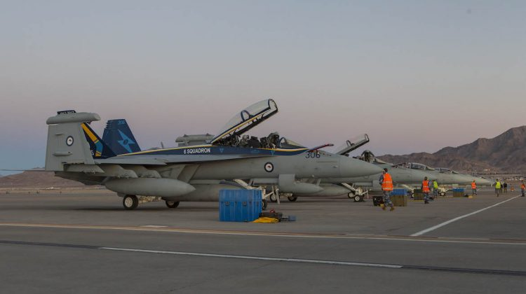 Four RAAF Growlers deployed to Nellis AFB, Nevada for Red Flag 18-1. When one of the aircraft crashed on takeoff on January 28 due to a catastrophic engine failure, participation in the exercise was limited due to a 10-day operational pause. (Defence)