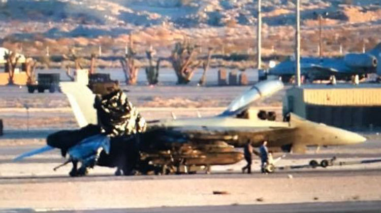A file image of the damaged RAAF Growler. (Barry Ambrose)