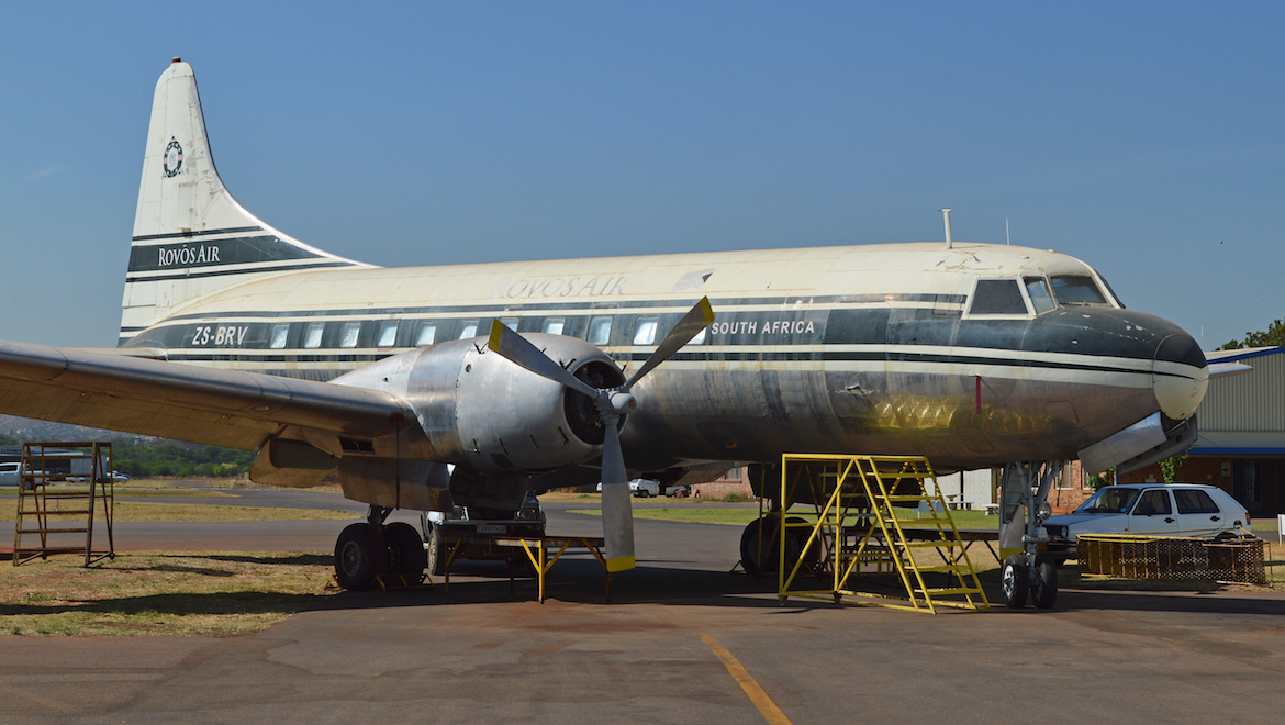 A file image of Convair CV-340 ZS-BRV. (Alan Wilson/Wikimedia Commons)