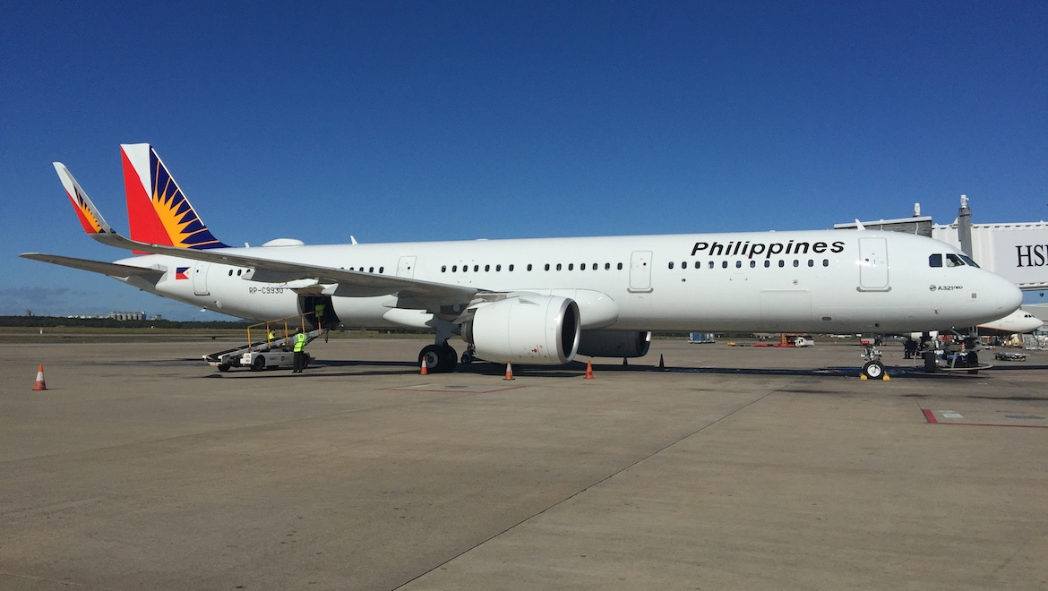 Philippine Airlines inaugural A321neo service to Brisbane was operated by RP-C9930. (Joshua Matica)