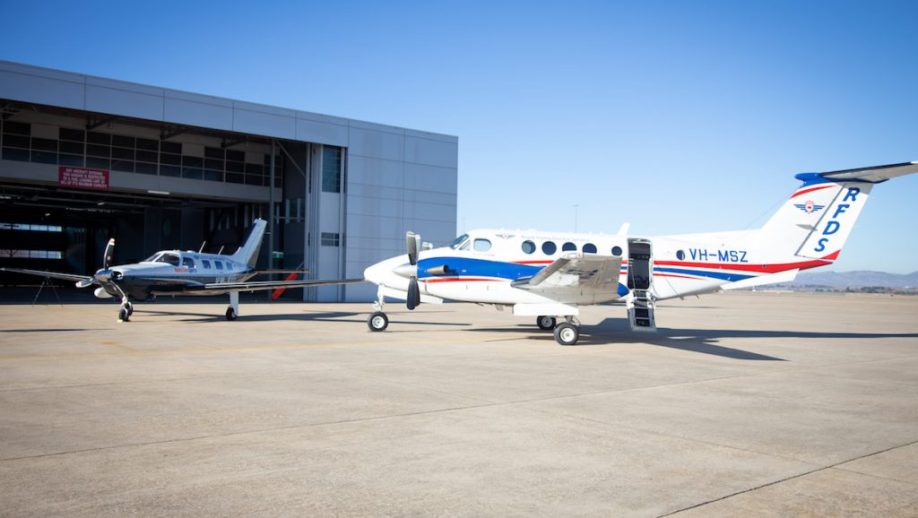 Royal Flying Doctor Service and Little Wings aircraft. (Airservices)