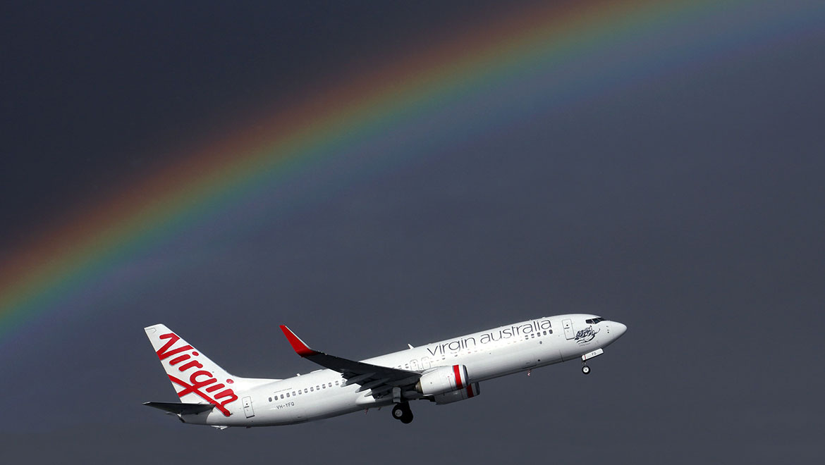 A Virgin Australia Boeing 737-800 at Melbourne Airport. (Rob Finlayson)