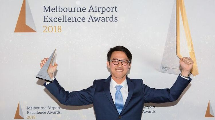 Barista of the Year winner Jimmy Tran. (Melbourne Airport)