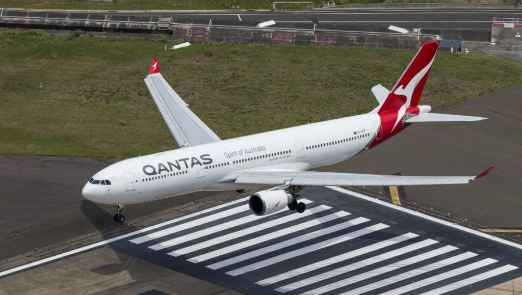 The A330 (here a -300) is the most numerous widebody in the Qantas fleet. (Seth Jaworski)