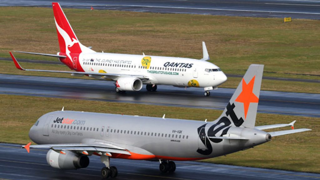 Qantas and Jetstar are part of the same airline group. (Seth Jaworski)