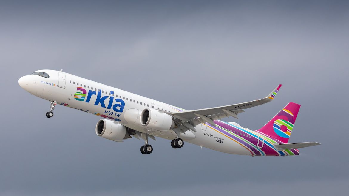 Launch customer Arkia has taken delivery of the world's first Airbus A321LR. (Airbus)