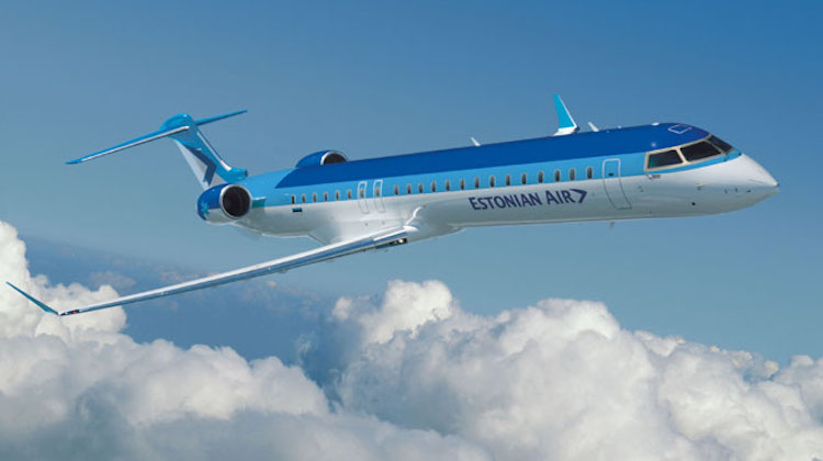 A file image of a CRJ900 in Estonian Air livery. (Bombardier)