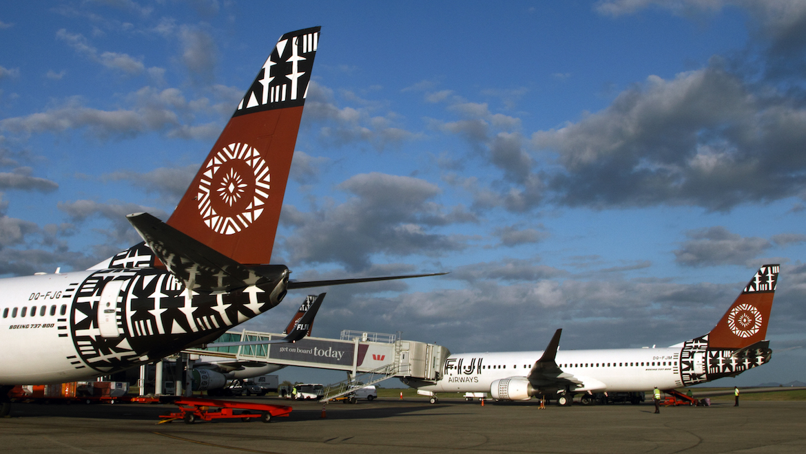 A file image of Fiji Airways aircraft at Nadi Airport. (Rob Finlayson)