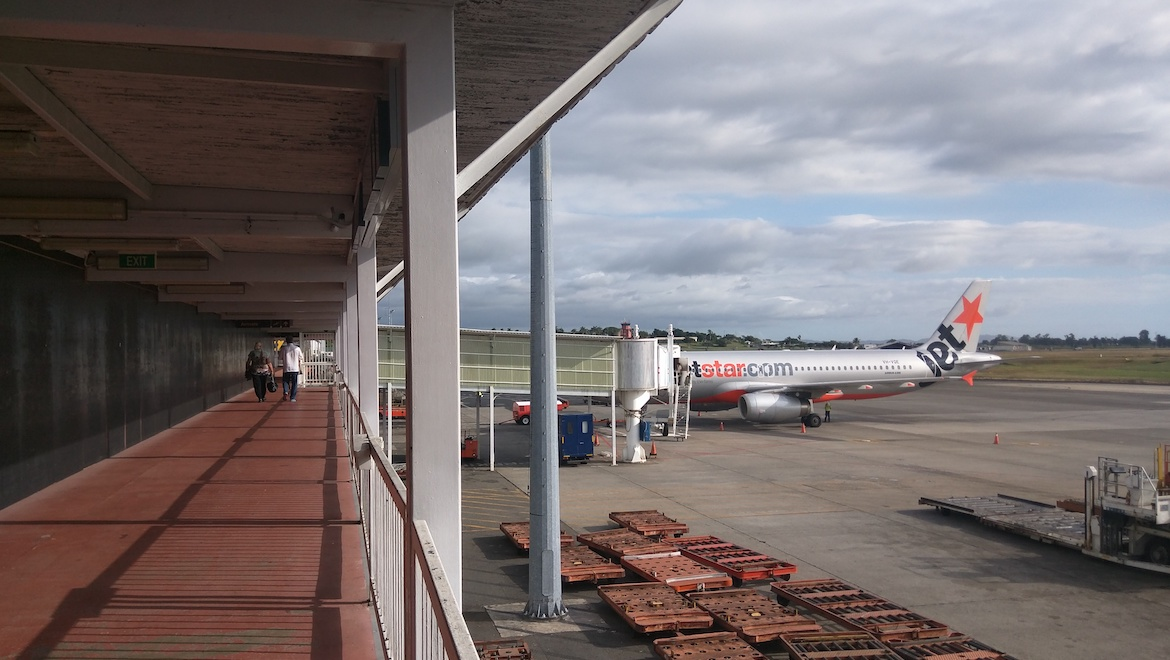 A file image of a Jetstar Airbus A320 at Nadi Airport. (Maksym Kozlenko/Wikimedia Commons)