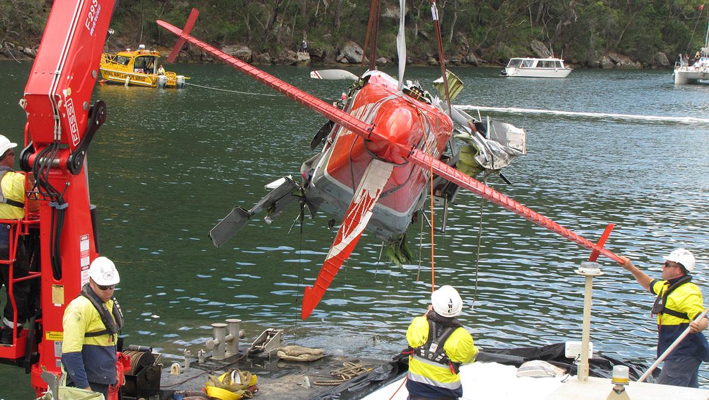 A de Havilland Canada DHC-2 Beaver floatplane crashed in Jerusalem Bay just outside Sydney in December 2017, killing all six people on board. (ATSB)
