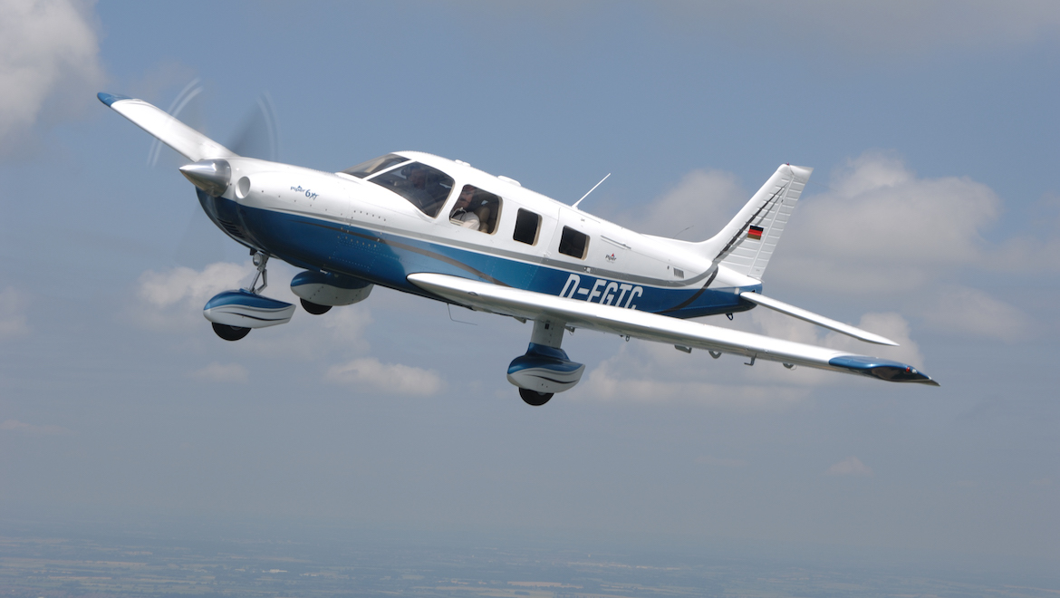An air-to-air image of the Piper Cherokee 6XT. (Keith Wilson)