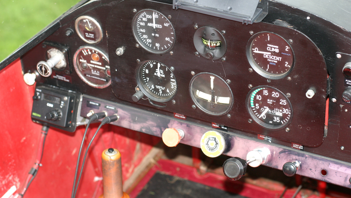 G-BBPS's standard panel contains six primary instruments. (Bob Grimstead)