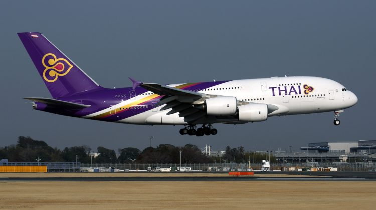 A Thai Airways International Airbus A380. (Rob Finlayson)