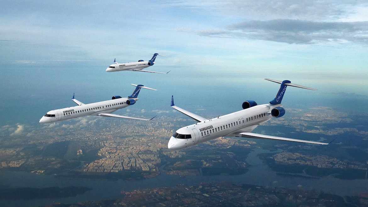 A look at the current Bombardier CRJ family of aircraft. (Bombardier)