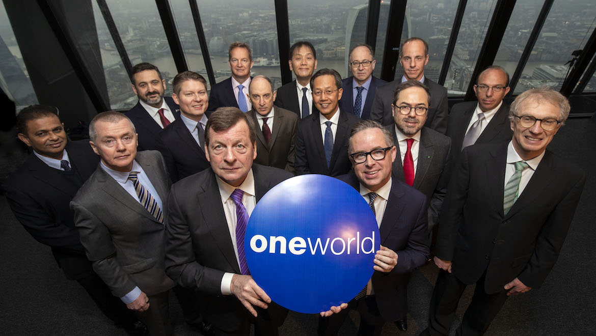 The bosses of oneworld member airlines celebrate the alliance's 20th birthday. (oneworld)