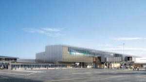 An artist's impression of the redeveloped Gold Coast Airport. (Gold Coast Airport/Twitter)
