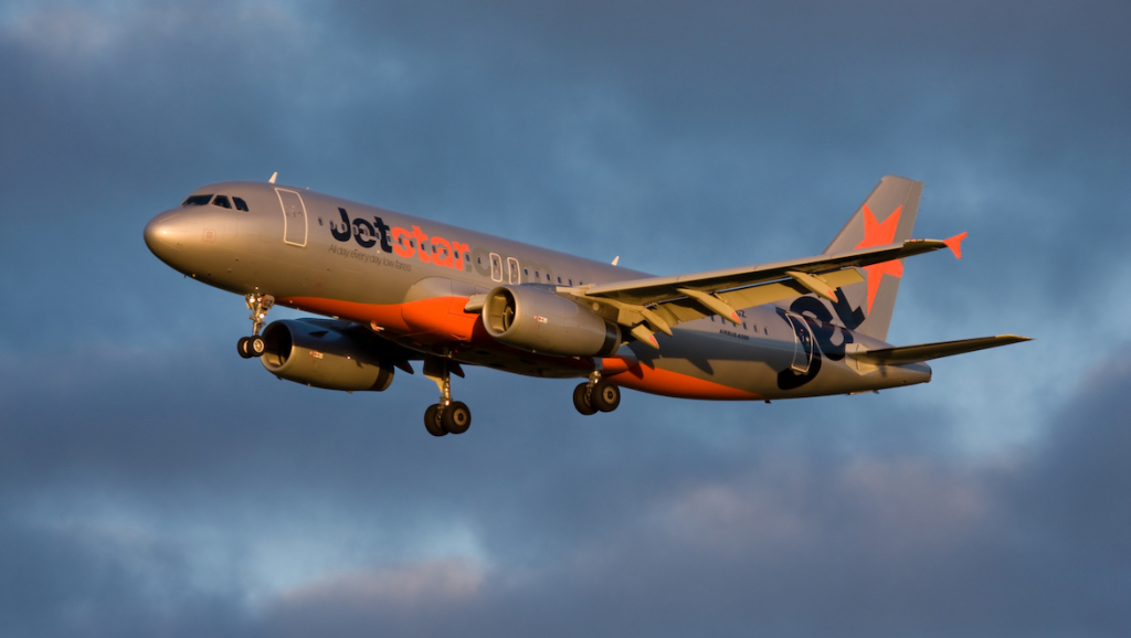 A file image of Jetstar Airbus A320 VH-VGZ. (Medhi Nazarinia)