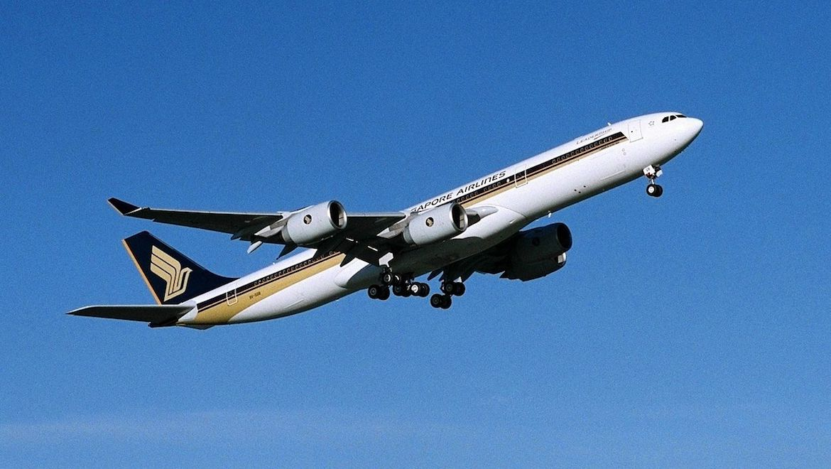 A file image of an Airbus A340-500 in Singapore Airlines livery. (Airbus)