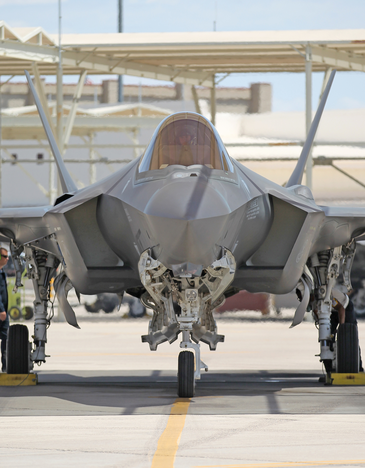 An F-35 at Luke Air Force Base. (Andrew McLaughlin)