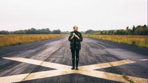 A woman Standing at Cornelia Fort Airport. (Joshua Ness)