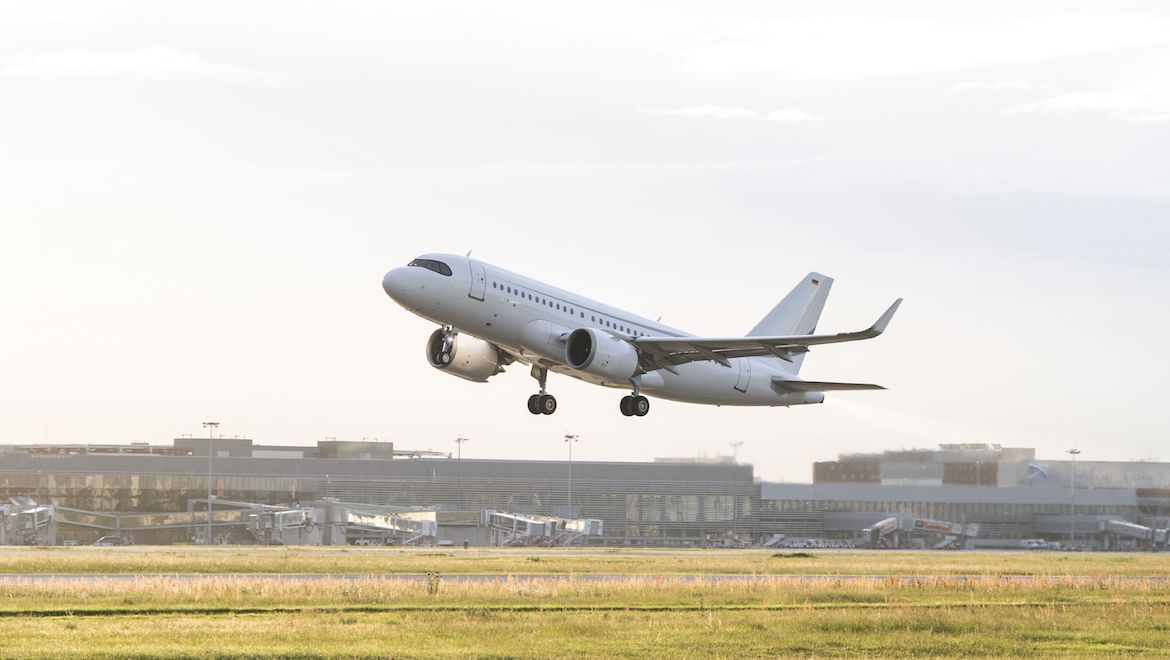 The Airbus ACJ319neo performed a 16-hour, 10-minute test flight on April 26 2019. (Airbus)
