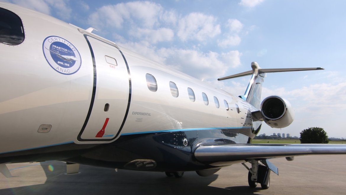 The Embraer Executive Jets Praetor 600 has received its type certificate. (Embraer/Twitter)