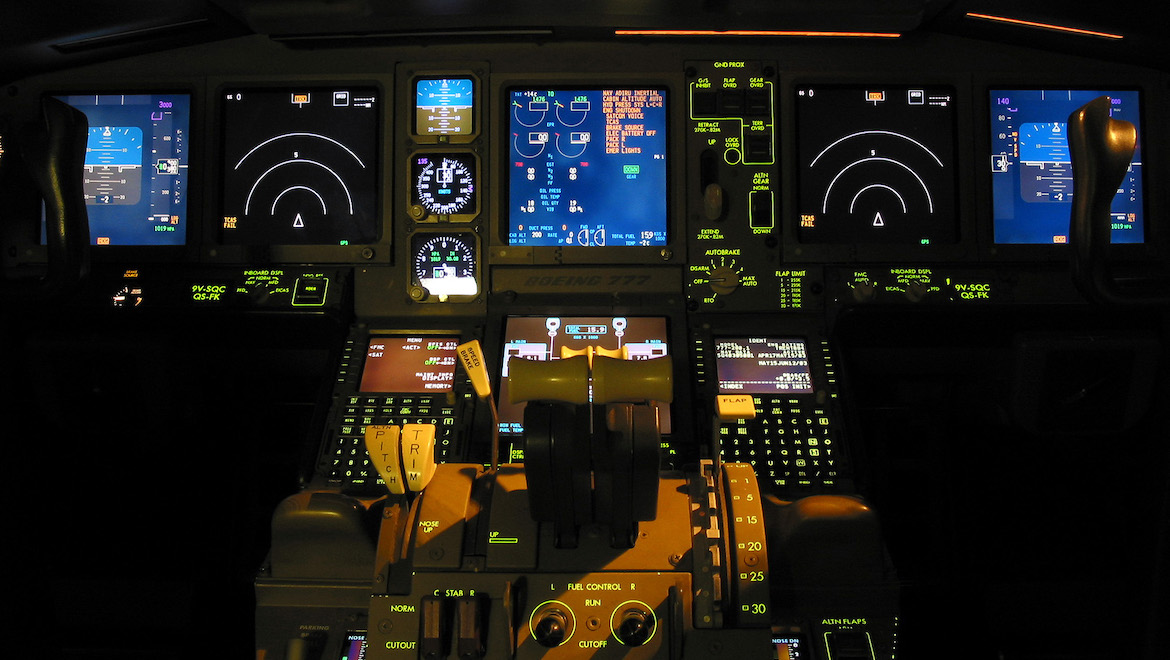 The Boeing 777 flightdeck. (Will Lanting)