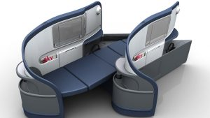 Delta Air Lines' Boeing 777-200LRs are fitted with 43 180-degree full-flat BusinessElite seats. (Delta Air Lines)