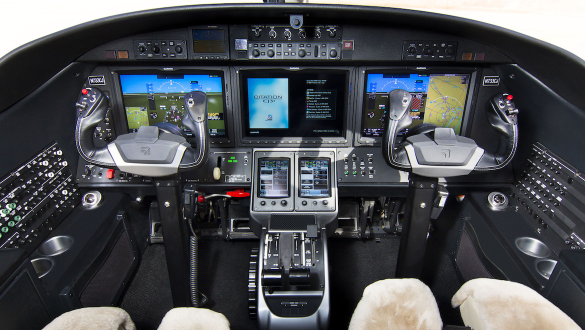 The flightdeck of the Cessna Citation CJ3+. (Textron Aviation)