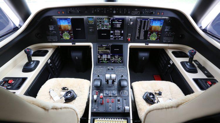 A file image of the Embraer Praetor 600 flight deck. (Embraer)