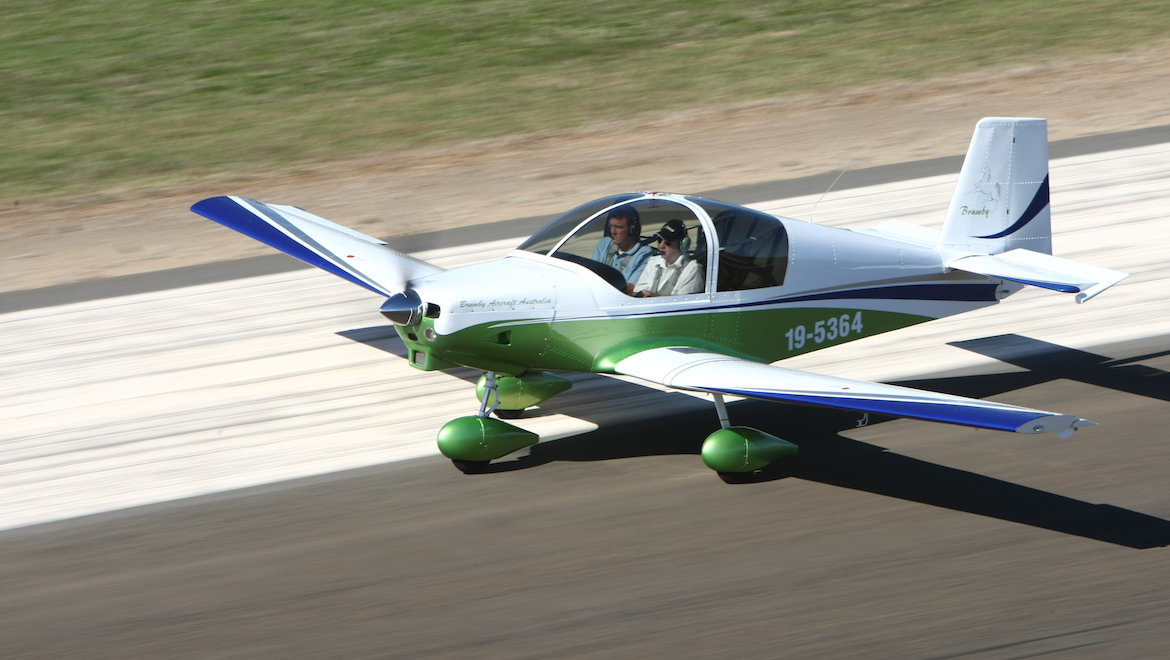 The test flight Brumby is powered by a Jabiru 3300 with options of Jabiru 2200, Rotax 912 and Continential O-200D powerplants available. (Paul Sadler)