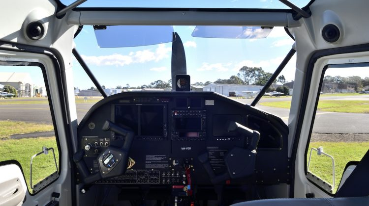 A view from inside Vulcanair V1.0 VH-VOI. (Grahame Hutchison)