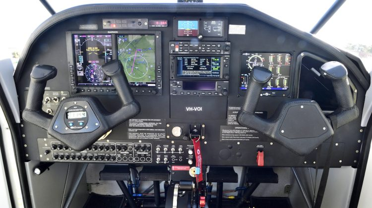 A look at the controls on board Vulcanair V1.0 VH-VOI. (Grahame Hutchison)