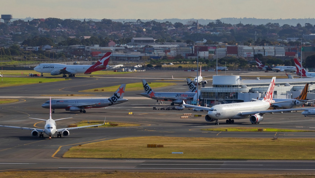Australia's domestic carriers at Sydney Airport. (Seth Jaworski)