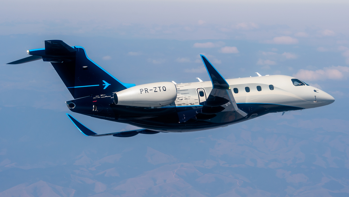 A supplied image of Praetor 500 PR-ZTQ. (Embraer)