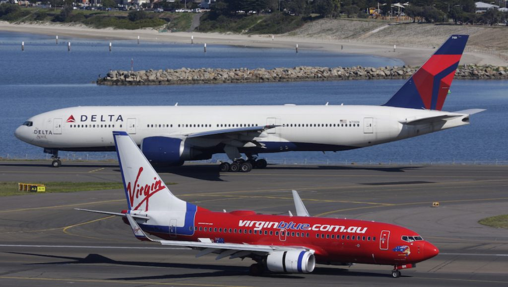 Partners – Virgin Blue and Delta Airlines planned to form an alliance. (Seth Jaworski)