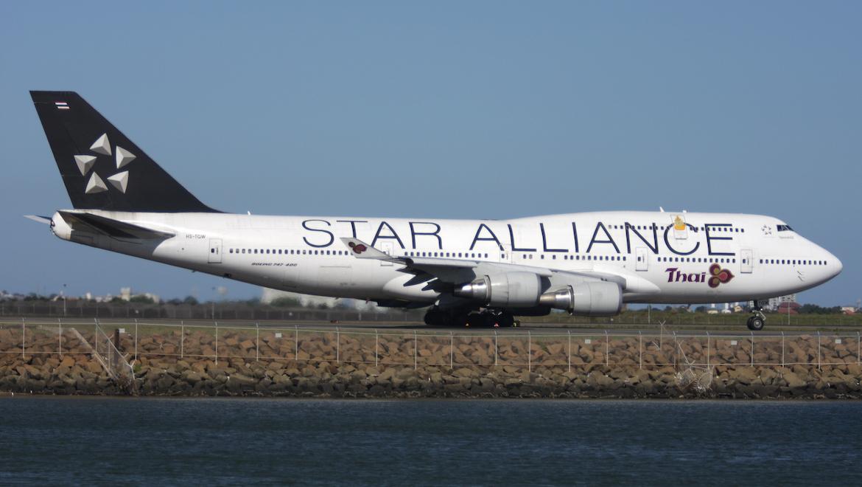 A Thai Airways Boeing 747-400 in Star Alliance livery. (Andrew McLaughlin)