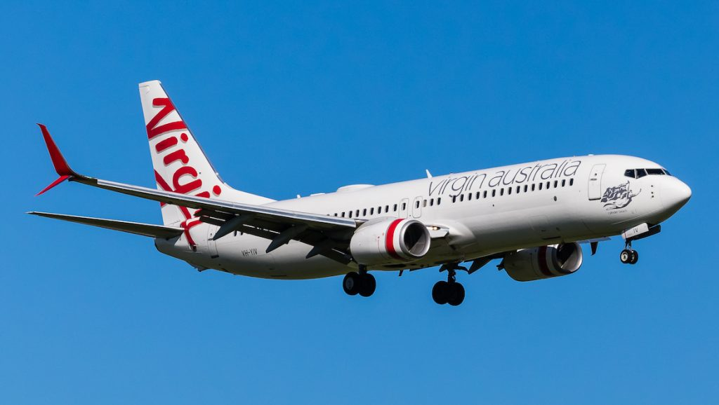 A file image of Virgin Australia Boeing 737-800 VH-YIV featuring the split scimitar winglets. (Dave Soderstrom)
