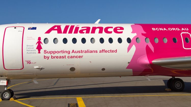 Alliance Aviation Services is supporting the Breast Cancer Network Australia. (Dave Parer)