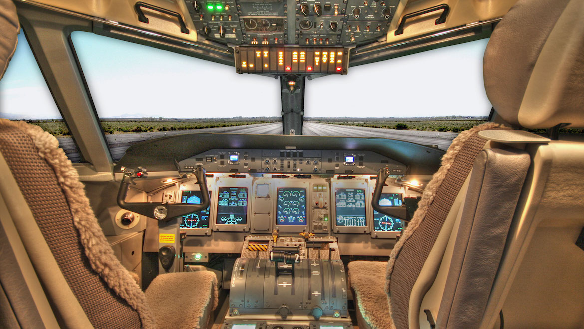The Q400 introduced a Thales digital avionics suite. (Bombardier)