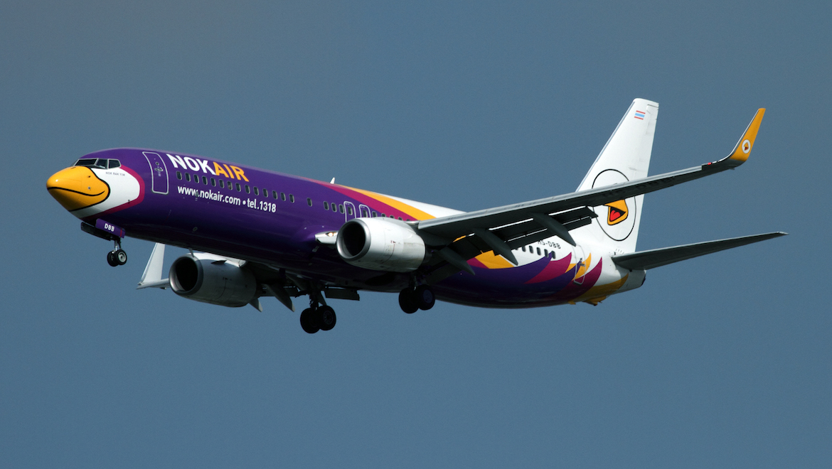 Thailand low-cost carrier NOK Air. (Rob Finlayson)