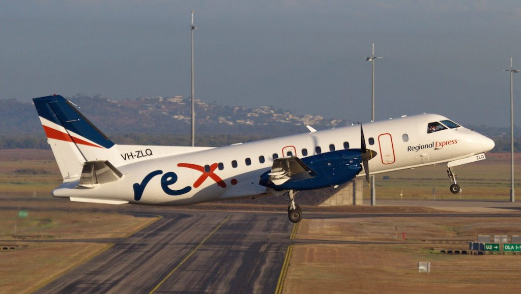 A file image of a Regional Express Saab 340B. (Dave Parer)