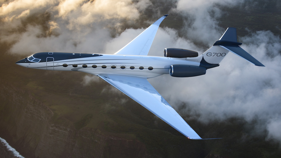An artist's impression of the G700 in flight.
